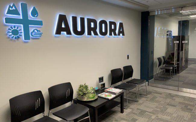 Aurora entrance sign
